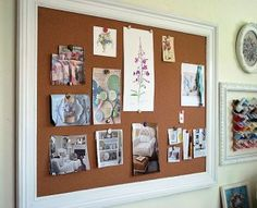 Make an easy large, wood-framed bulletin board using ready-made materials and basic wood-working skills.