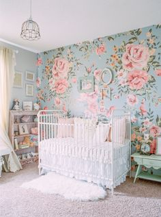 The Ultimate Wallpaper for a Baby Girl's Nursery Gallery - Style Me Pretty