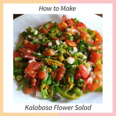 Have you ever tried to eat an edible flower? In this simple salad recipe, I use a kalabasa flower or squash blossom to make my delicious and healthy salad. I added an exciting flavor of bagoong or anchovies sauce. Easy Salad Recipes, Easy Salads, Healthy Salads, Easy Meals, Anchovy Sauce, Main Dishes, Side Dishes, Flower Food, Squash Blossom