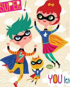 You Are Super... limited edition giclee print of by helendardik