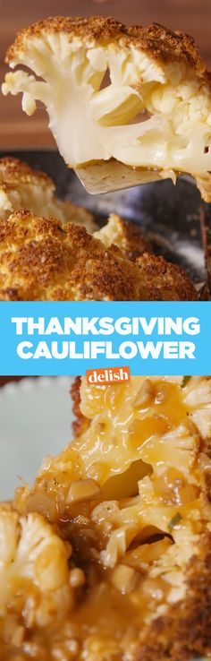 This Thanksgiving cauliflower is perfect for vegetarian guests. Get the recipe on Delish.com.