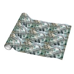 Funny Dollar Bills Cool Money Cash Gift Wrap Wrapping Paper