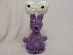 Crochet Purple Alien Stuffed Animal by TheHappyStar on Etsy