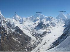 View of K2, Broad Peak & Gasherbrum  Peak, Karakorum Range
