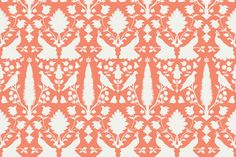 Avignon in Sunny Coral fabric by sparrowsong on Spoonflower - custom fabric