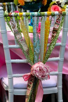la decoración de mis mesas: Ideas para fiestas: Decorar las sillas I