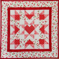 PDF - IMMEDIATE DOWNLOAD - QUILT PATTERN - Joyful Heart!!  Fun & Easy Table Topper or Wall Hanging Completed size: 18 1/2 Square (Approximately) Fat Quarter Friendly!  Great pattern - selling at reduced price since pattern is in older format. Very versatile design - literally, thousands of Joyful Hearts have been made - each & every one very, very special.  Traditional piecers are pleasantly surprised with the sharp points obtained from PAPER PIECING this design. Complete instruc...