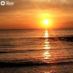 Striking sunset shot  Dee Why Beach, NSW, Sydney