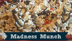 """Planning to watch the NCAA College Basketball Tournament? You'll need snacks! Check out this recipe for my """"Madness Munch"""" - it's a yummy sweet/salty mix."""