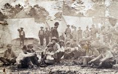 More than 95% of all documentary Civil War photos were taken by northern photographers within Union lines, but among the best of the 5% is an early war series of photos of Mississippi soldiers in Florida. At least six views show Confederates drilling and, in this detail, at leisure in camp. Very cool photo from the Huntington Library.
