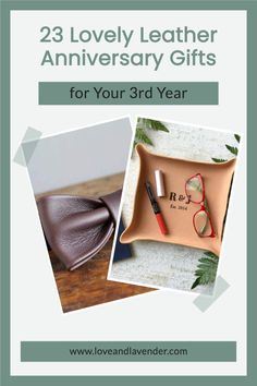 23 Lovely Leather Anniversary Gifts for Your 3rd Year | Gift ideas - Love & Lavender #gifts #giftideas #anivversarygifts