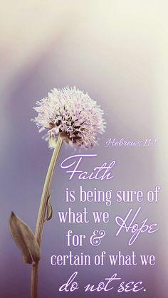 Hebrews 11 : 1