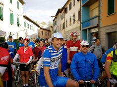 Scenes from the 2013 L'Eroica vintage bicycle race in Tuscany