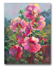 Flowers Over the Fence Canvas Art by Laila's on #zulily