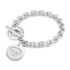 Return to Tiffany™ Round Tag Toggle Link Bracelet
