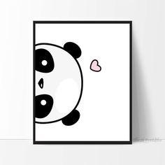 Lateral Panda Panda imprimible Linda impresión por TheLilPrintables
