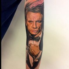 This tattoo by Endre London is really making the case for Daniel Craig. #inked #tattoo #daniel #craig #james #Bond #movie #name