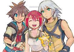 Sora, Kairi, Riku