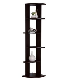 Another great find on #zulily! Espresso Sorelle Alternating Corner Bookcase by Furniture of America #zulilyfinds