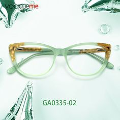 e578e2146e67 Hodierna Cat Eye Green Eyeglasses These glasses are made of high quality  materials.Warm green