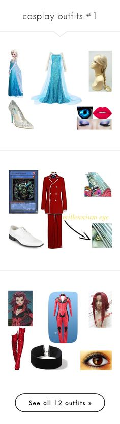 """""""cosplay outfits #1"""" by sarahmullen-yugioh ❤ liked on Polyvore featuring Disney, Betsey Johnson, Lime Crime, Vance Co., men's fashion, menswear, Topshop, Masquerade, Visvim and LE3NO"""