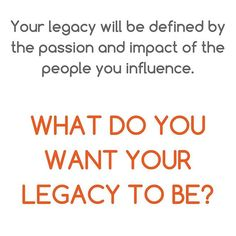 """It is a compelling question that begins a process of self-reflection and definition of career and business strategy development.⠀ ⠀ In almost all instances, I get the question, """"What is a leader's legacy?""""⠀ ⠀ After you leave a role – any role – how do you want people to remember your impact and time there – that is legacy⠀ ⠀ Why does it matter?⠀ ⠀ It keeps you focused and on your specified path during times of chaos and uncertainty.⠀ ⠀ It is not just a mantra; it is an exact legacy…"""
