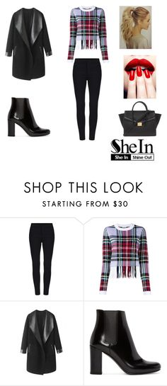 """""""Black Skinny Elastic Pant"""" by fragiorgio ❤ liked on Polyvore featuring Chloé, Columbia, Yves Saint Laurent, Forever 21 and shein"""