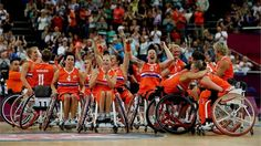 The Netherlands Women's Wheelchair Basketball Team are Paralympic Bronze Medal winners at London 2012