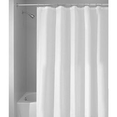 InterDesign Extra-Wide Waterproof Shower Curtain, White