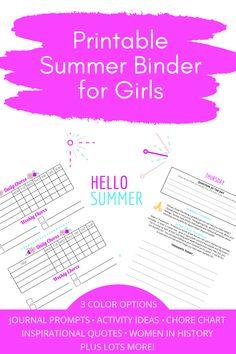 Chore Chart Kids, Chore Charts, Summer Fun List, Summer Goals, Wacky Wednesday, Monday Friday, Journal Prompts For Kids, Conversation Starters For Kids, Reading Tracker