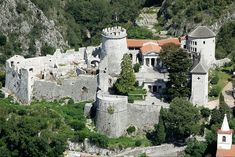 "Trsat Castle (""Gradina"") above Rijeka - Kvarner, Croatia Croatian Coast, Kirchen, Eastern Europe, Beautiful Places, National Parks, Places To Visit, Around The Worlds, Vacation, Architecture"