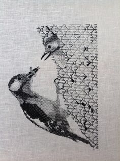 Made by my student Anja from the Netherlands during a Märchenhaftes Sticken blackwork embroidery retreat in 2016.