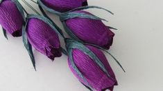 HOW TO MAKE ROSE BUDS USING CREPE PAPER - YouTube