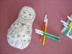 Poupée Matriochka à colorier et réutilisable à volonté ! : Jeux, jouets par au-zizile-bazar