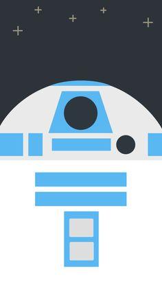 スターウォーズフォースの覚醒/R2-D2のどアップ iPhone壁紙 Wallpaper Backgrounds iPhone6/6S and Plus Star Wars iPhone Wallpaper