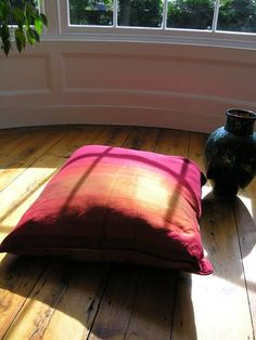 Moroccan shades of sunset silk floor cushion Moroccan Lamp, Floor Cushions, Soft Furnishings, Lanterns, Shades, Flooring, Silk, Christmas Gifts, Sunset