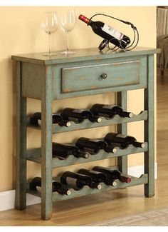 Cadet Wine Table in Moss Green ♥