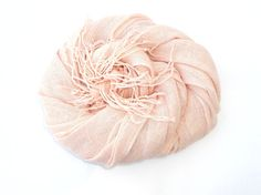 Back in stock - most popular color:  Nude Pink Linen Scarf Pastel Scarf