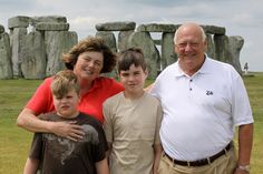 Paw Paw, Grammy, Ransom and Ethan at Stonehenge in England.