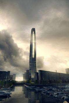 Greenland Group Suzhou Center (aka Wujiang Greenland Tower)   by Chicago firm Skidmore, Owings & Merrill LLP. (SOM)   Wujiang, China