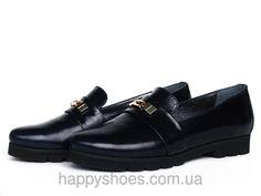 "Туфли лоферы из темно-синей кожи на рифленой подошве: продажа, цена в Запорожье. туфли женские от ""HappyShoes"" - 228298832 #лоферы #туфли2016 #весна2016 #туфликожа"
