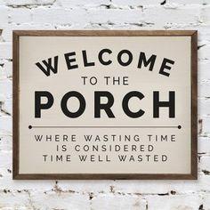 Shabby Chic Farmhouse, Antique Farmhouse, Farmhouse Style Decorating, Farmhouse Design, Porch Decorating, Farmhouse Decor, Decorating Ideas, Patio Signs, Front Porch Signs