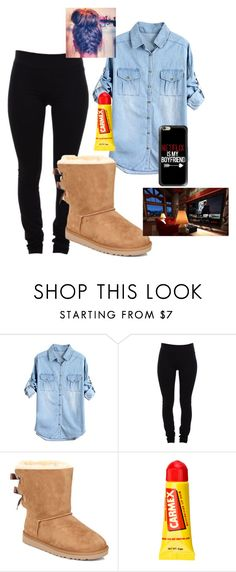 """""""Netflix!!-Ciara"""" by mindless-loyalty ❤ liked on Polyvore featuring Helmut Lang, UGG Australia, Carmex and Casetify"""