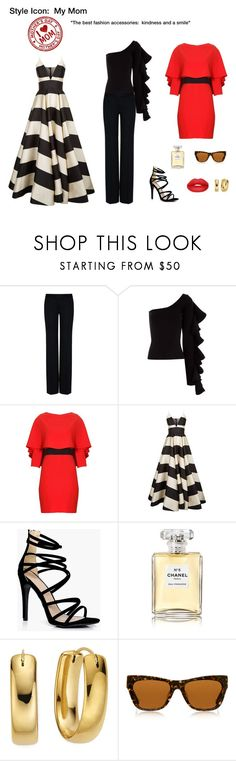 """Style Icon:  Mom"" by scolab ❤ liked on Polyvore featuring STELLA McCARTNEY, Beaufille, Alice + Olivia, La Mania, Boohoo, Chanel, Preen and Sugarpill"
