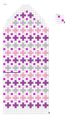 Knitted Mittens Pattern, Intarsia Knitting, Crochet Mittens, Knitting Charts, Knitted Gloves, Knitting Socks, Knit Crochet, Knitting Patterns, Norwegian Knitting