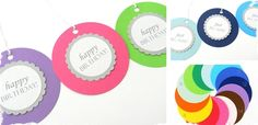 One Dozen Colorful Gift Tags! at VeryJane.com