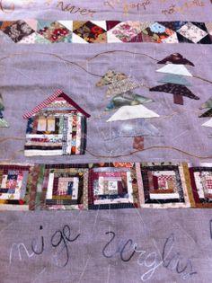 1000 images about treballs de patchwork al taller de l - C est l hiver qui frappe a notre porte ...