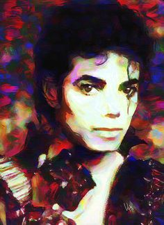 Michael Jackson Portrait Billie Jean Original Fine Art by VyaArt