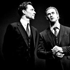 Tom Hiddleston and Chris Hemsworth. Via Twitter.