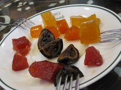 Candied vegetables from Hafiz Mustafa in Istanbul, Turkey